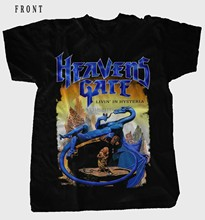 HEAVENS GATE Livin in Hysteria Heavy metal Bnad BLACK T shirt sizes S to 7XL(China)
