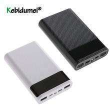 최신 QC 3.0 빠른 충전 듀얼 USB 유형 C 보조베터리 케이스 DIY 4x18650 휴대 전화 배터리없이 15000mAh 배터리 보관 상자
