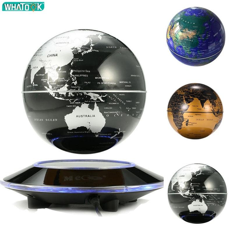 Плавающий глобус светодиодный 3d ночник магнитной левитации карта мира ребенок Рождественский подарок офис книжный шкаф спальня дома теллурион Декор лампы