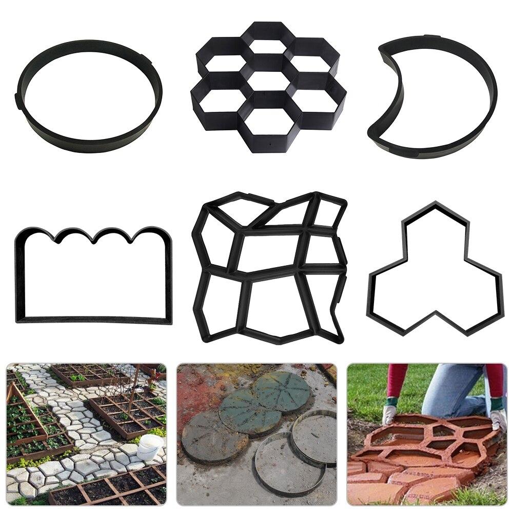 Garden DIY Path Maker Concrete Molds Cement Mold Concrete Cement Stone Walk Paving Paver Reusable Concrete  Mold  T