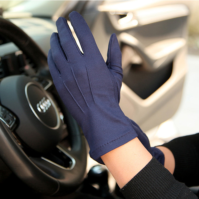 Summer Sunscreen Gloves Male Thin Style Breathable Non-Slip Five-fingers Driving Gloves For Man Absorb Sweat SZ105W1