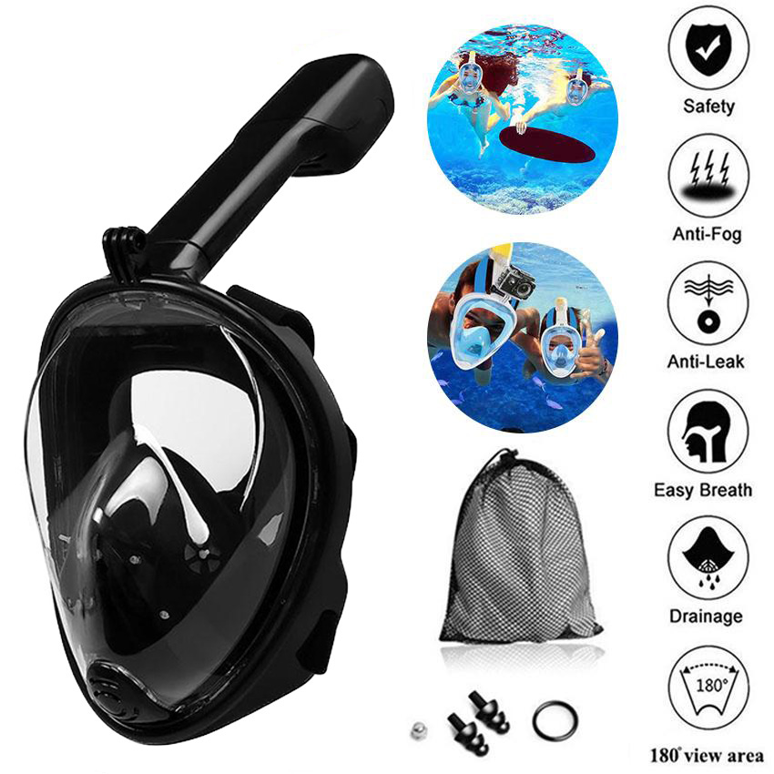 Underwater Snorkel Mask Scuba Anti Fog Full Face Diving Snorkeling Set Respiratory masks Safe and waterproof Swimming Equipment(China)