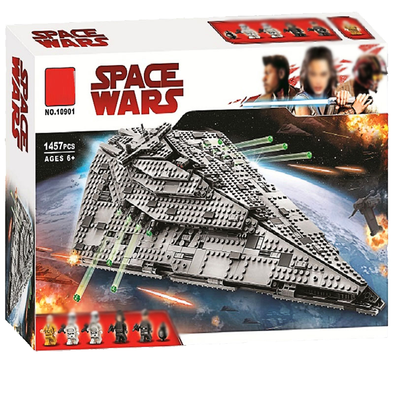 First Order Star Destroyer Compatible With Lepining Star Plan Wars Building Blocks Bricks Starwars Toys Gifts 1457Pcs