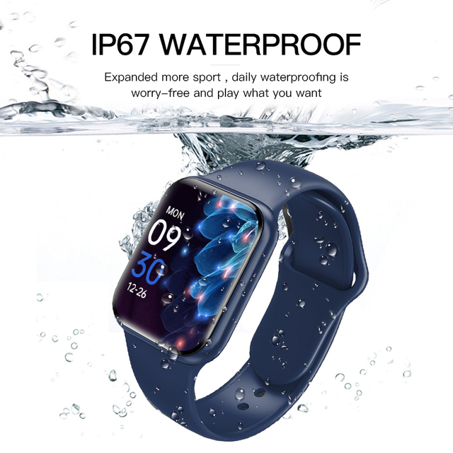 """Smart Watch For Men 1.57"""" Fitness Tracker Full Touch Bluetooth SmartWatch Women Heart Rate Monitor Clock Watches For iOS Android 4"""
