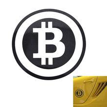 Наклейка на автомобиль крупный Биткоин криптовалюты блокнот
