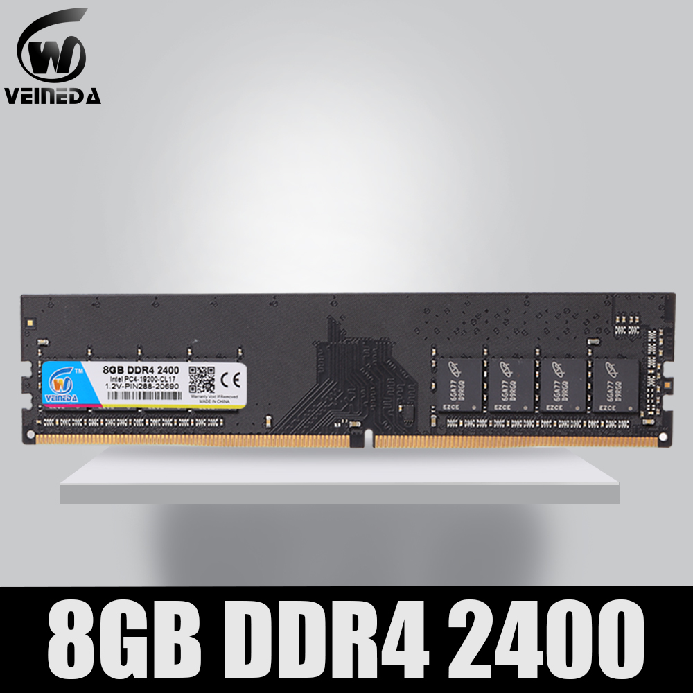 VEINED Desktop <font><b>RAM</b></font> <font><b>DDR4</b></font> 4GB <font><b>8GB</b></font> 4G 8G PC 1.2V Memory <font><b>ddr4</b></font> Motherboard 2133mhz <font><b>2400mhz</b></font> 2666mhz Memoria DIMM for Desktop image