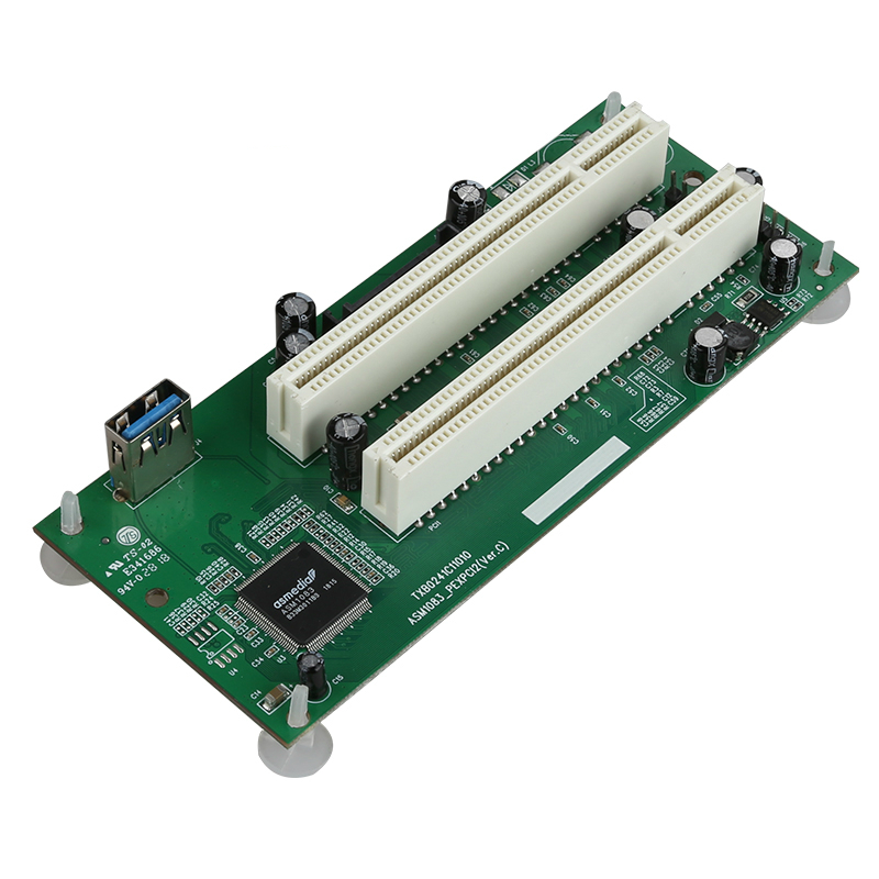 PCI-Express To PCI Adapter Card PCIe To Dual Pci Slot Expansion Card USB 3.0  Add On Cards Converter TXB024