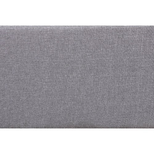 【USA in Stock】39'' Storage Bench Tufted Linen Fabric Ottoman Storage Bench Grey , free dropshipping  out door furniture 3