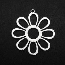 5 sztuk/partia 100% ze stali nierdzewnej 20x31mm słońce kwiat DIY urok wisiorek biżuteria hurtowych bransoletka Making Charms najwyższej jakości naszyjnik