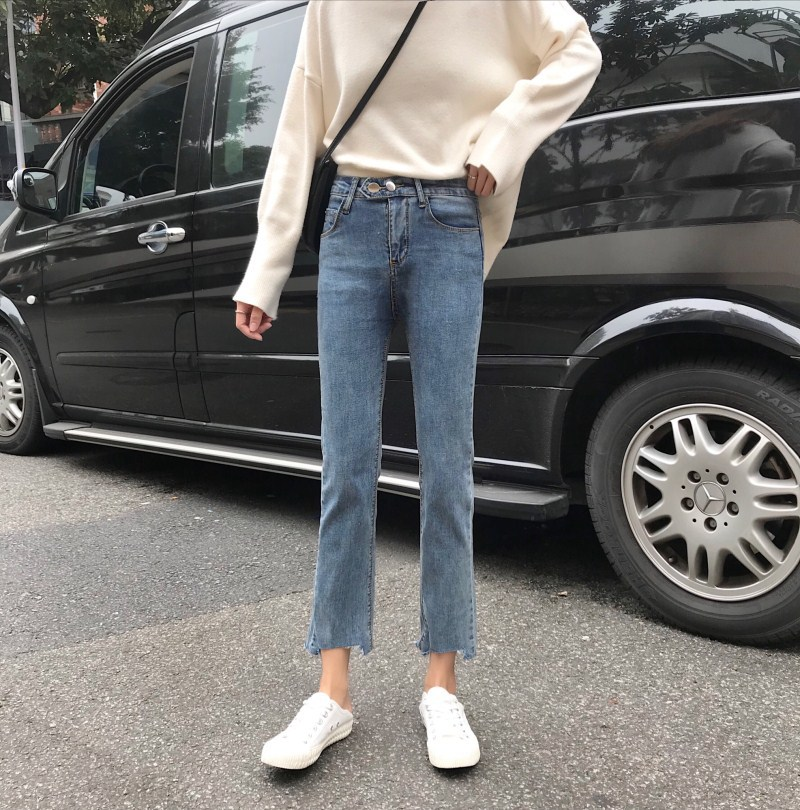 Spring Autumn Jeans New Fashion Casual Tide Boyfriend High Waist Jeans Plus Size Women Loose Wild Harem Pants