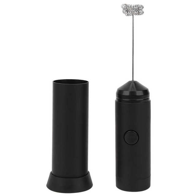 Cappuccino Maker Electric Milk Frother Stainless Steel Spring Whisk Egg Beater Coffee Foamer Drinks Blender Mixer