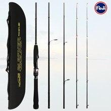 Tsurinoya vara de pesca parceiro 1.88m ul l 4 seção universal hastes truta baixo soild e tubular haste dupla ponta isca de pesca vara