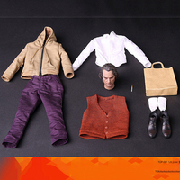 TOP 001 1/6 JOKER Madness Joaquin Clothes Set Clown Casual Wear Set With Head Sculpt For 12 Figure body Model Toys