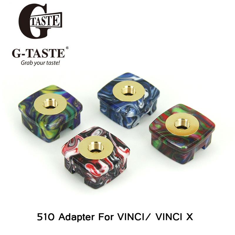 In Stock Hot G-taste TOVAPO 510 Adapter For VOOPOO VINCI / VINCI X RDA RTA RDTA Electronic Cigarettes Thread