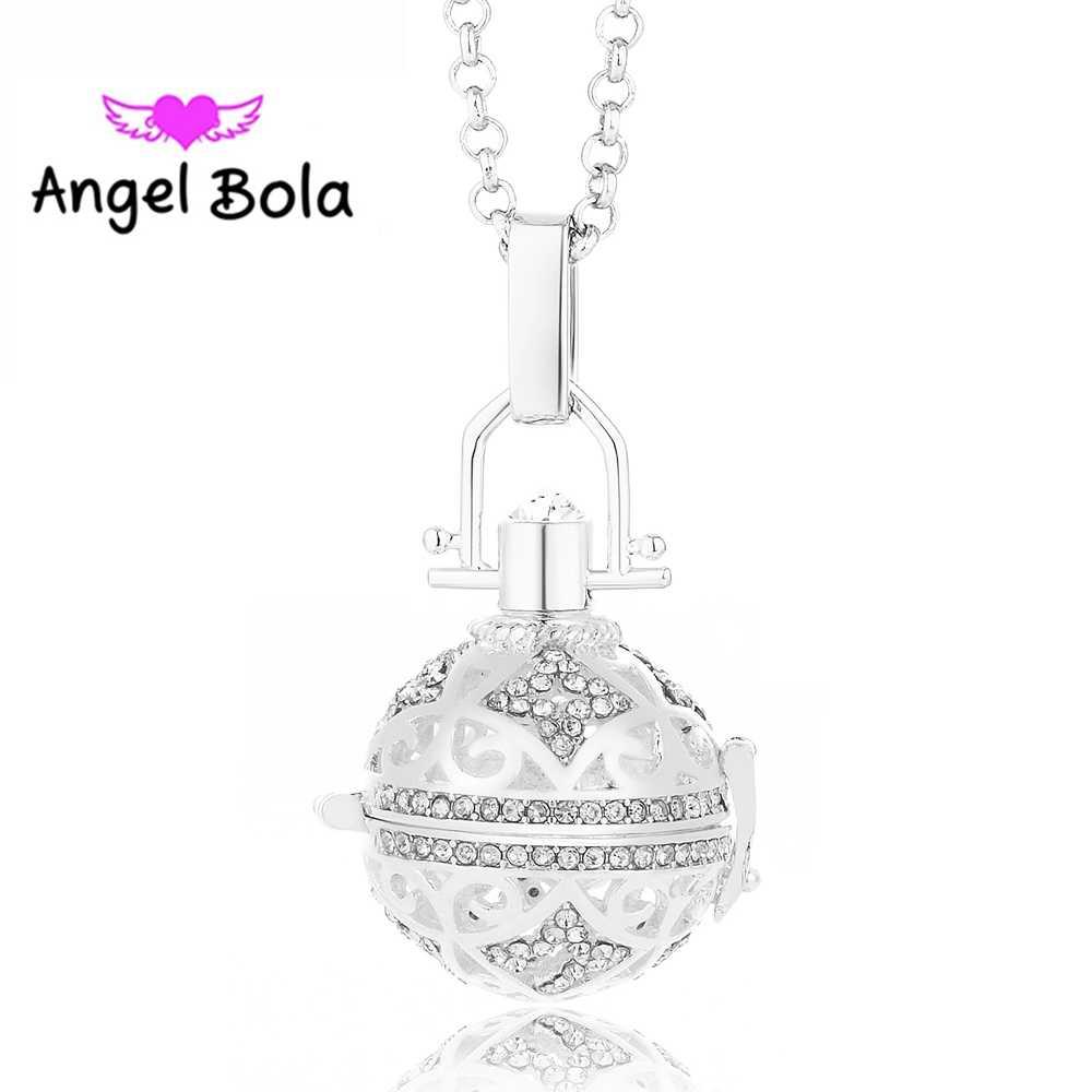Angel Bola น้ำหอมจี้น้ำมันหอมระเหย Diffuser สร้อยคอจี้สำหรับของขวัญผู้หญิงเครื่องประดับ L064