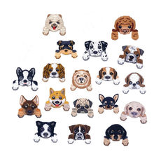 New Arrival Cute Chihuahua Shiba Dog Animal Patch Baby's Clothing Patches Backpack Decoration Small Applique Small Iron on Patch(China)