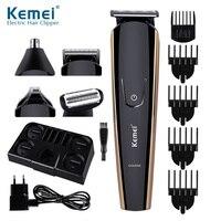 Kemei 8 em 1 men precision aparador de cabelo máquina de cortar cabelo barbeador corpo barba barba barba barba barba nariz aparador de pêlos rosto barbeadores para homens KM 526|Aparadores de pelo| |  -