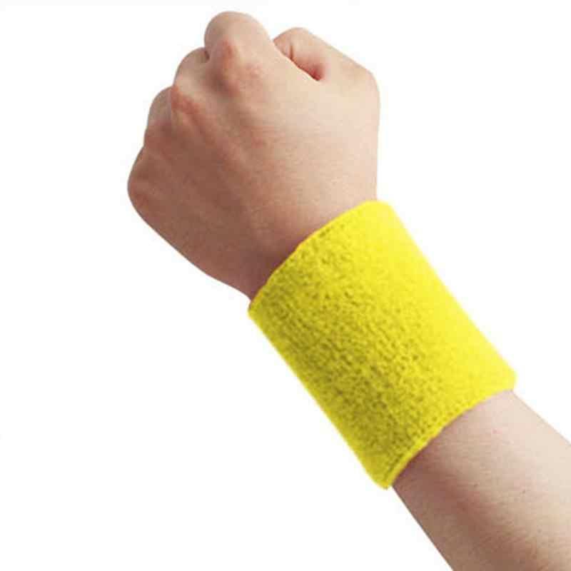 1 Pza muñequera banda para el sudor deportiva banda para la mano sudar muñequera abrazaderas para gimnasio voleibol baloncesto Teennis caliente 8