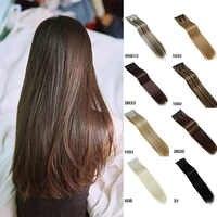 MUMUPI mode femmes Clip dans les extensions de cheveux 24 pouces naturel postiches 6 pièces droite synthétique