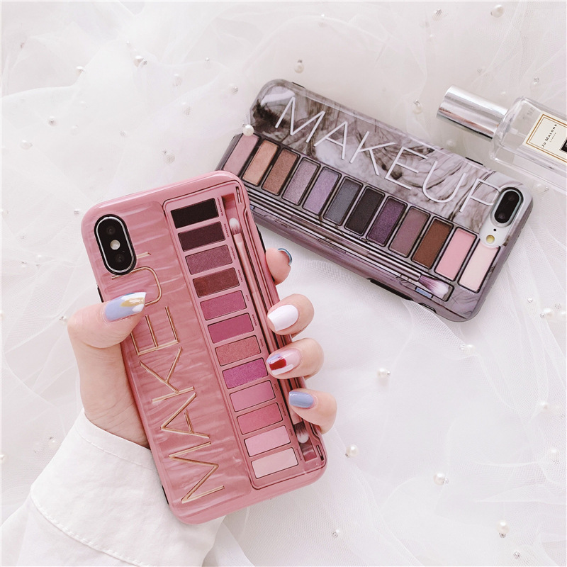 Luxury <font><b>Sexy</b></font> <font><b>Girl</b></font> Soft Cover <font><b>Case</b></font> For <font><b>iphone</b></font> 6 6S <font><b>7</b></font> 7Plus 8 8Plus First Eye Shadow Box Naked Phone Coque For <font><b>iphone</b></font> XR XS Max X image