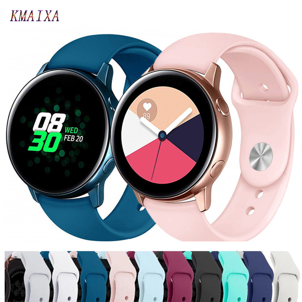 20mm Watch Strap For Samsung Galaxy Watch Active 2 46mm 42mm Gear S3 Huawei Watch GT 2 Soft Silicone Bracelet 22mm Watch Band 46