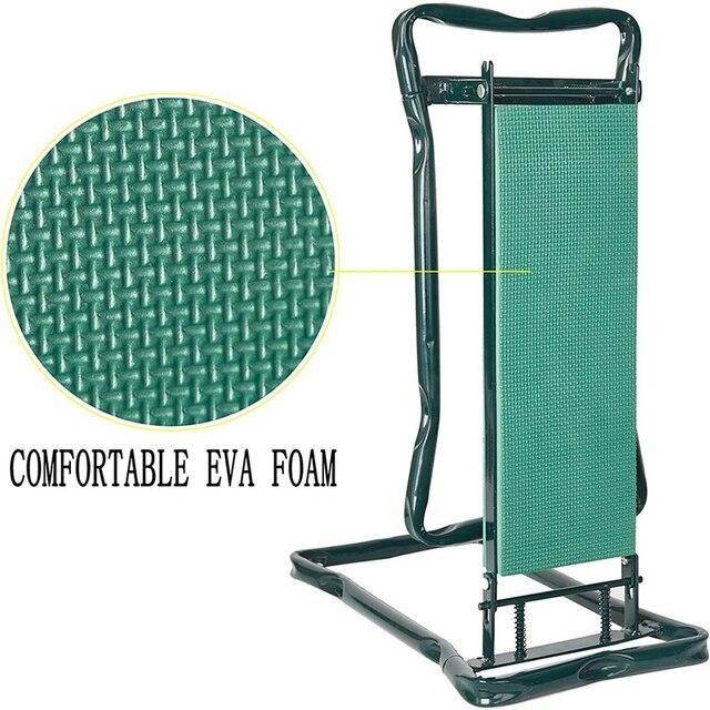 Garden Kneeler and Seat Folding Stainless Steel Garden Stool with Tool Bag EVA Kneeling Pad Gardening Gifts Supply 5