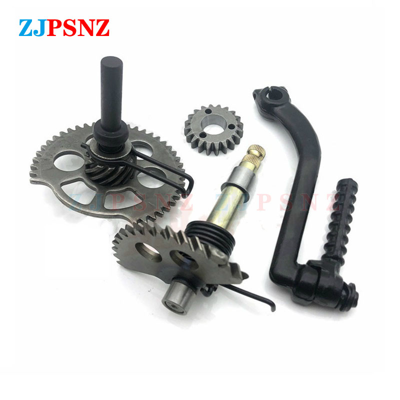 Motorcycle Start Gear Starter Start Shaft Idle Gear Spring Kit For Parts Engine GY6 50cc 80cc 125cc 150cc Motorcycle Accessories