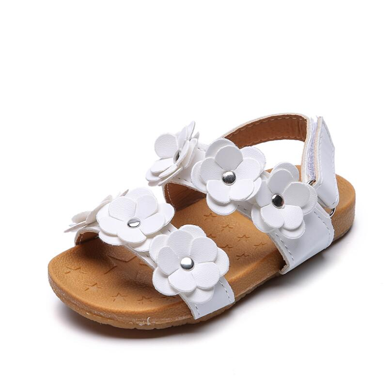 Kids Baby Girls Sandals Leather Toddler Sports Princess Flower Sandals For Kids Beach Shoes Size 21 22 23 24 25 26 24 28 29 30