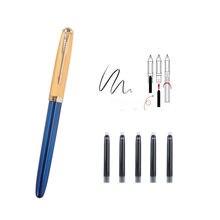 Jinhao 85 caneta fonte presente conjunto de luxo metal aço inoxidável cor clipe médio nib escritório assinatura escola