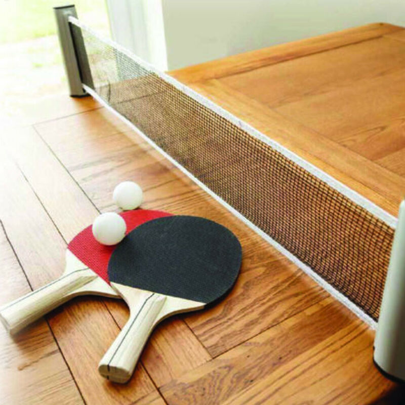 2020 Clip On Table Tennis Kit Ping Pong Set Retractable Net Rack Portable Sports