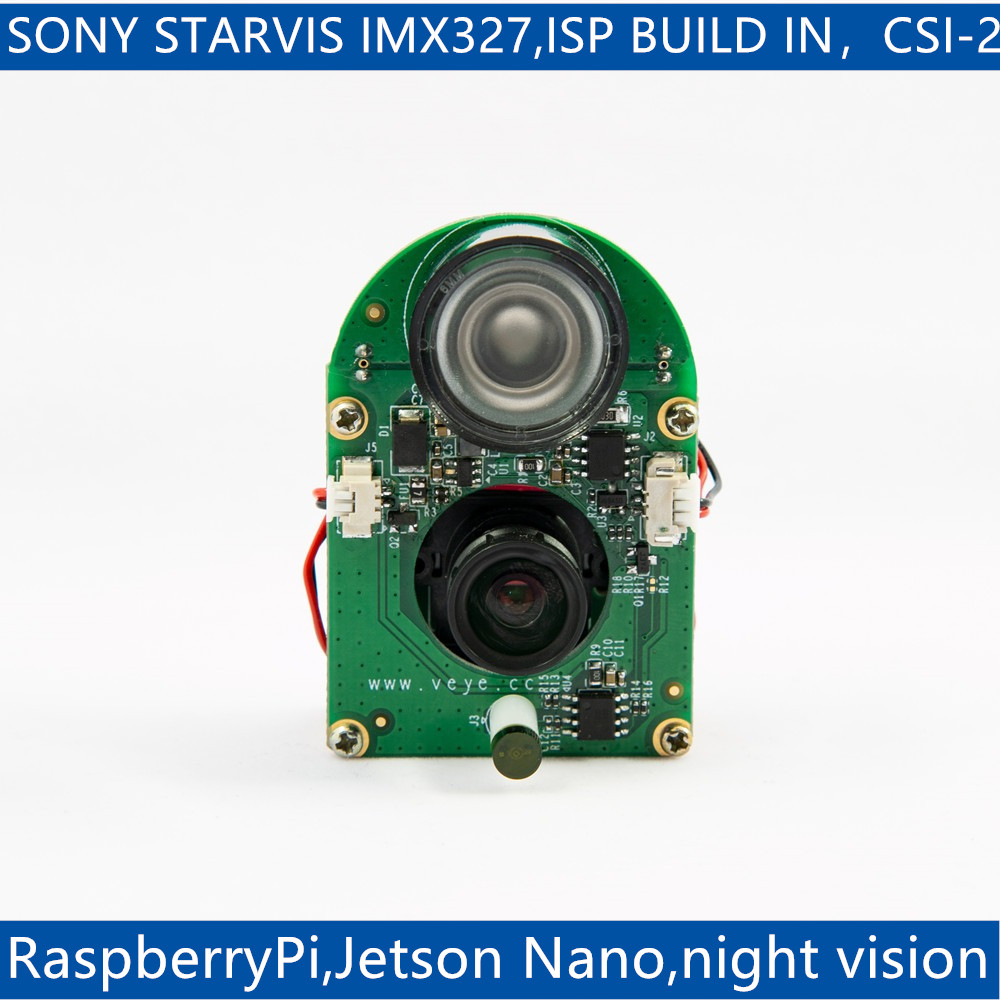 VEYE-MIPI-327E  Infrared Night Vision For Raspberry Pi 4/3B+/3 And Jetson Nano,IMX327 MIPI CSI-2 2MP ISP Camera Module