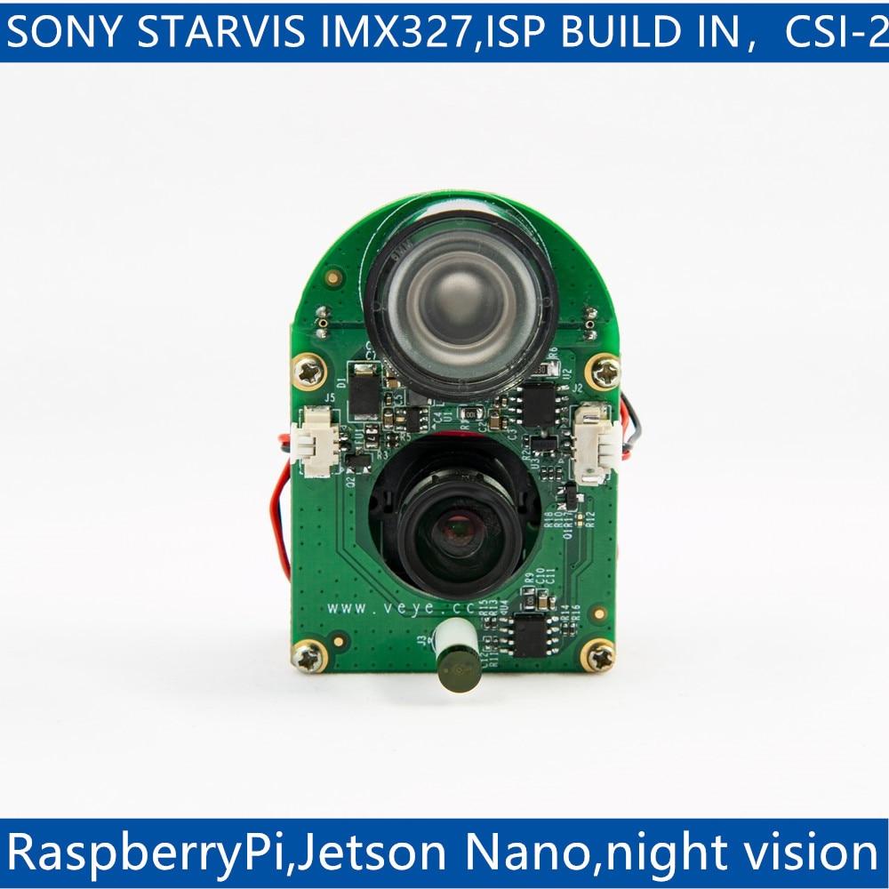 VEYE-MIPI-327E  infrared Night Vision for Raspberry Pi 4/3B+/3 and Jetson Nano,IMX327 MIPI CSI-2 2MP ISP Camera Module