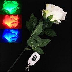 Drie-Kleur Licht Rose (Afstandsbediening) goocheltrucs Kleur Veranderende Bloem Magia Podium Bruiloft Illusies Gimmick Comedy