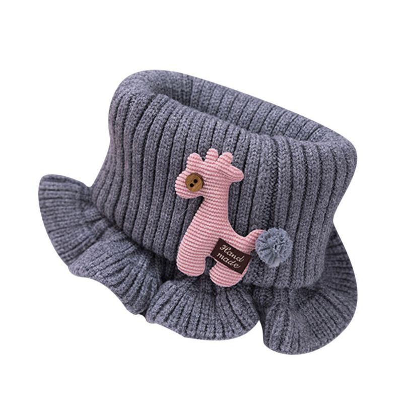 Шарф для маленьких мальчиков и девочек; зимний теплый шарф с рисунком лошади; плотные шарфы с воротником для новорожденных; шейный платок для малышей; - Цвет: H