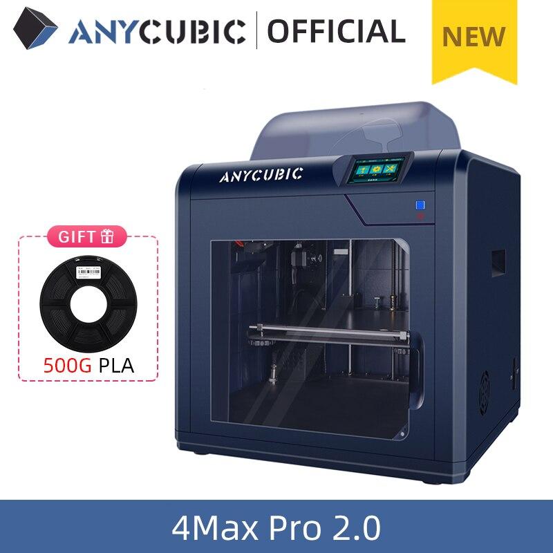 Nuova-stampante-3D-ANYCUBIC-4Max-Pro-2-0-stampante-3D-FDM-fai-da-te-con-stampa Stampante 3D Professionale Economica del 2020: ANYCUBIC 4Max Pro 2.0