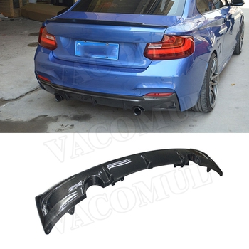 Carbon Fiber Rear Bumper Lip Diffuser For BMW 2 Series F22 220i 228i 235i M235i M sport 2014-2017 E Style Spoiler Fiber glass image