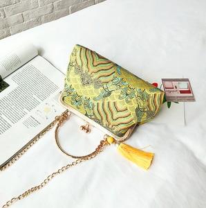 Image 2 - ヴィンテージキスロックシェルバッグバッグフリンジトートバッグ女性のハンドバッグ財布チェーンの女性のショルダークロスボディバッグバッグ送料無料
