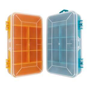 Case Plastic Storage-Box Screws Transparent Portable 13-Grids Multifunctional Double-Side