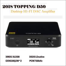 цена на Topping D50 dac audio amp hifi amplifier audio decoder es9038q2m dsd usb dac amp portable decodificador amplifiers XMOS XU208