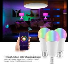 lampada led E27 E14 B22 AC100-264V 9W RGB+W Smartphone Controlled Smart Lamp Bulbs Wi-Fi LED Light Bulb E14(China)