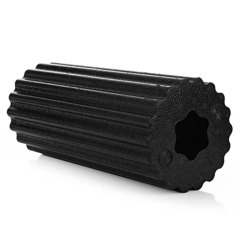 Hollow Foam Roller Fitness Foam Yoga Foam Roller Massage Roller Pilates Foam Roller For Physiotherapy Black in Yoga Blocks from Sports Entertainment