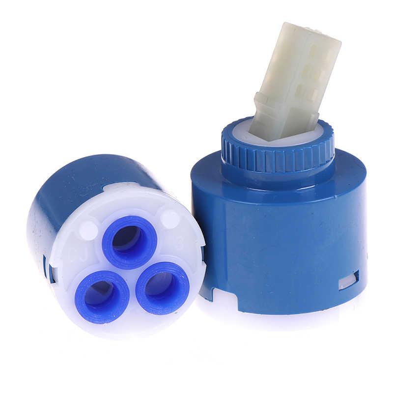35/40mm 세라믹 디스크 카트리지 믹서 수도꼭지 온도 조절 카트리지 수도꼭지 디스크 밸브 PP 플라스틱 세라믹 카트리지 믹서