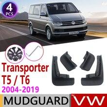 Mudflaps for Volkswagen VW Transporter T5 T6 Caravelle Multivan 2004~2019 Fender Mud Guar Splash Flap Mudguard Accessories 2005