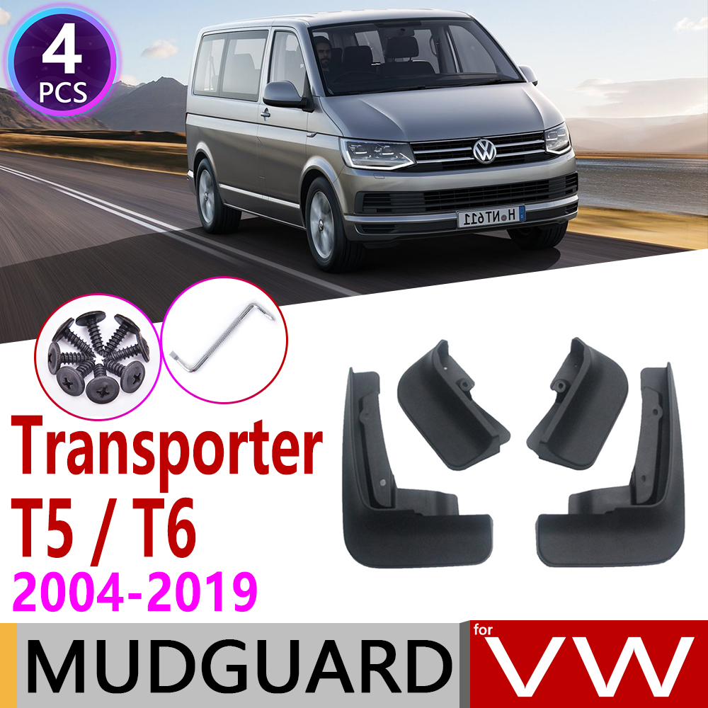 Mudflaps for Volkswagen <font><b>VW</b></font> Transporter <font><b>T5</b></font> T6 Caravelle Multivan 2004~2019 Fender Mud Guar Splash Flap Mudguard Accessories 2005 image