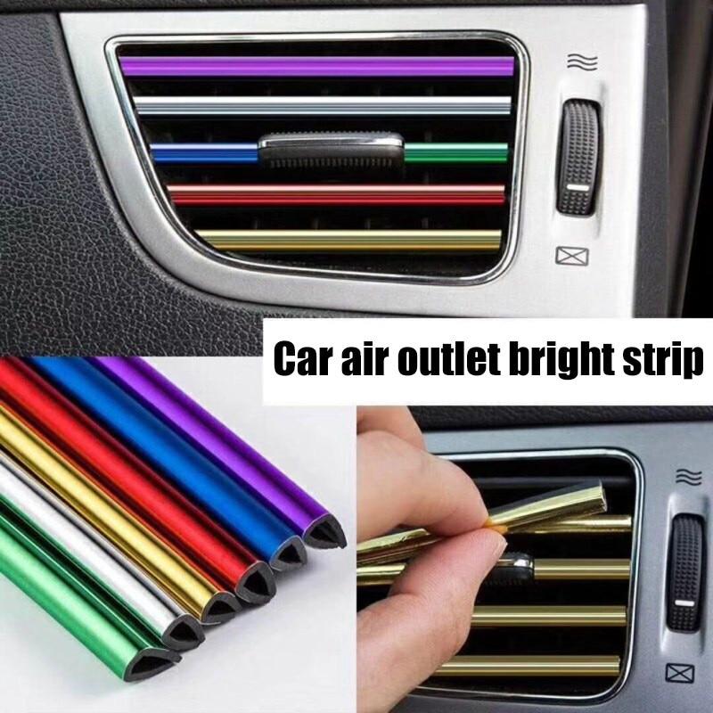 10PCS U Shaped Car Air Outlet Trim Strip Outlet Blade Colorful Decorative Strips Car interior accessories Auto Products