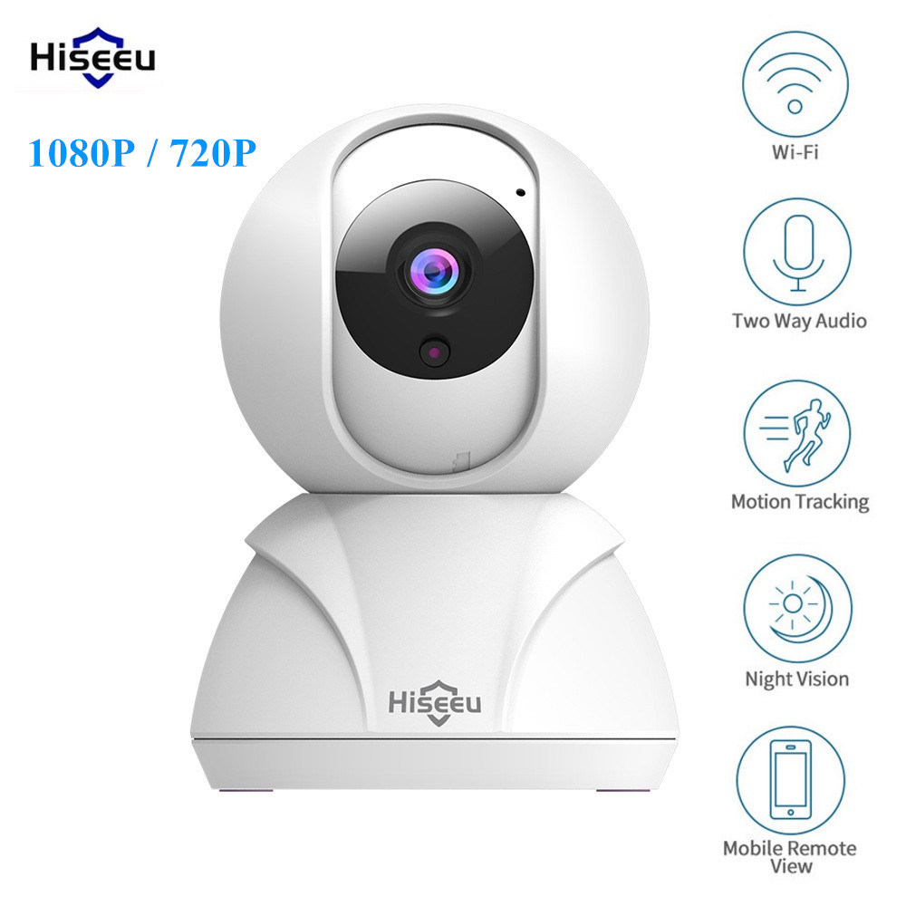 Hiseeu FH3 1080P / 720P Smart IP Camera WIFI Automatic Tracking Two-way Audio Night Version Home Security Camera Baby Monitor