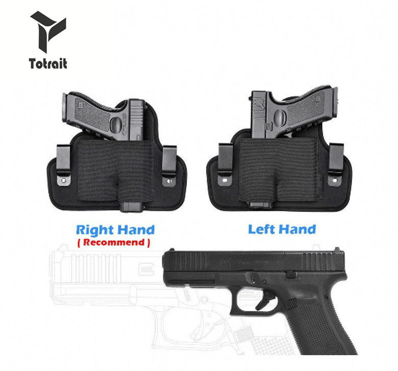 Concealed Handgun Belt Holster Ideal 6 Position Right/Left for small middle size Hand handguns Pistol Waist Pouch Magazine Bag image