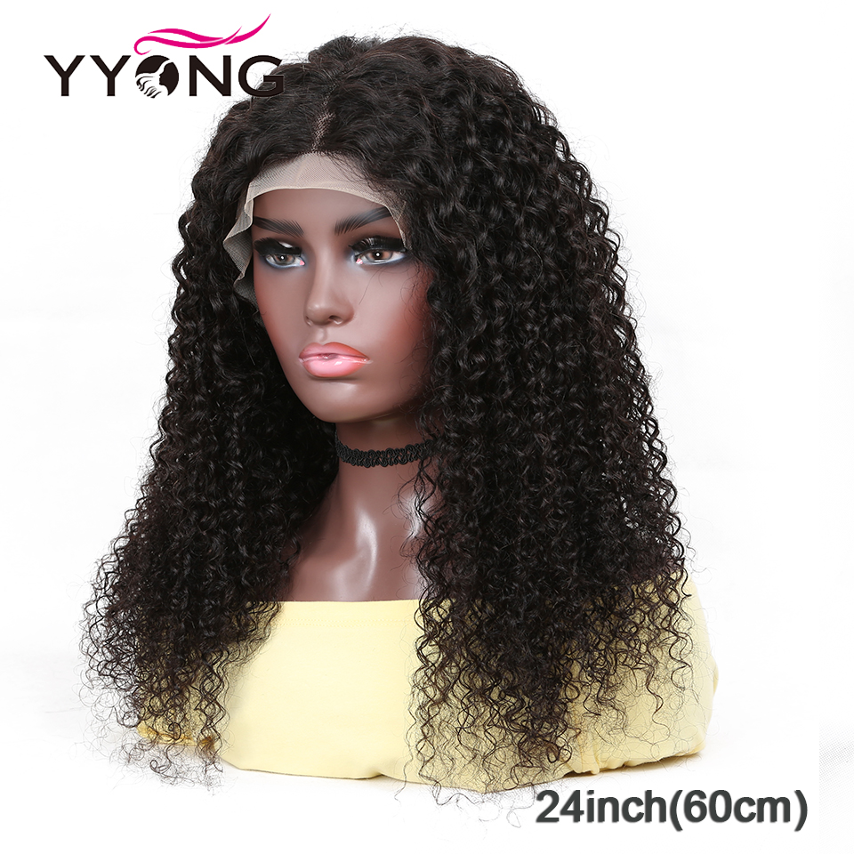 YYong 1x4 & 1x6 T Part Lace   Wig Kinky Curly HD Transparent Lace Wigs  Deep Part Wigs 120% 30 32 inch 4