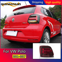 Car Styling tail lights case for Volkswag Polo tail lights 2011 2017 Tail Lamp polo taillights rear trunk lamp