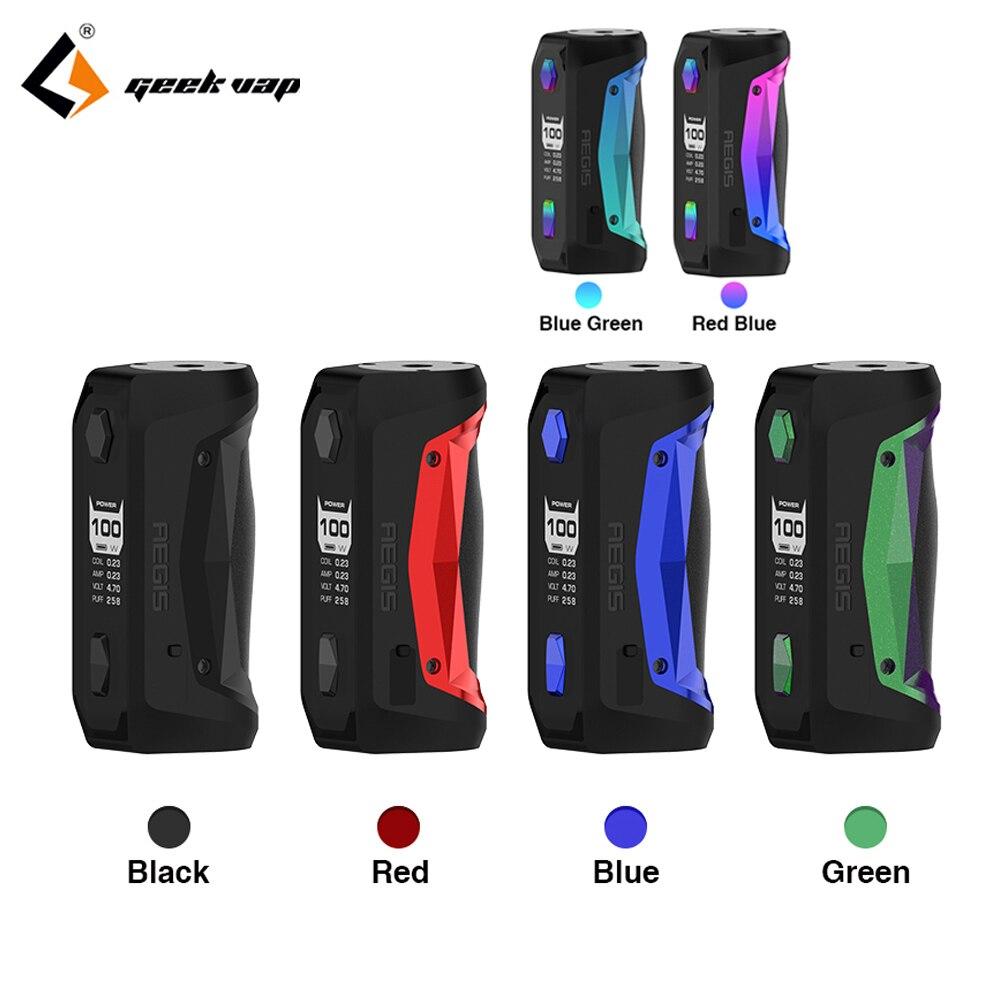 GeekVape egis Solo mod étanche E Cigarette ajustement Cerberus Subohm réservoir Tengu RDA par simple 18650 VS Aegis mini Mod